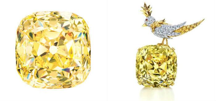 diamant tiffany et broche oiseau