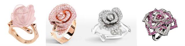 bagues de fiançailles en rose