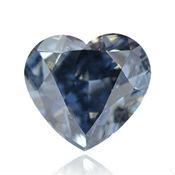 diamant bleu en forme de coeur