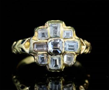 diamant et bague du moyen age