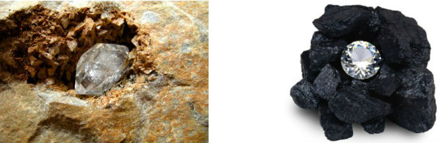 diamant dans la roche