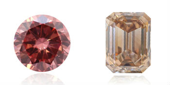 diamants rose et brun