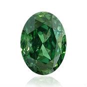 diamant vert ovale