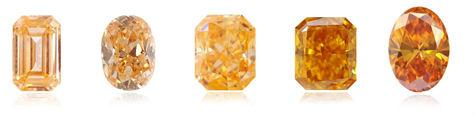 une gamme de couleur pour le diamant orange