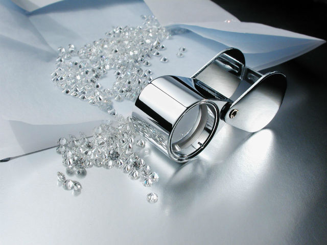 lot de diamants polis