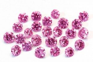une collection de diamants roses