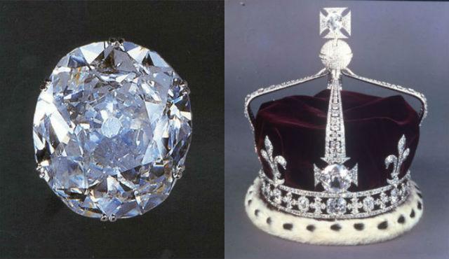 diamant koh i noor et couronne reine d'angleterre