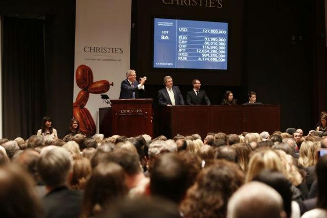 vente aux enchères à Christie's