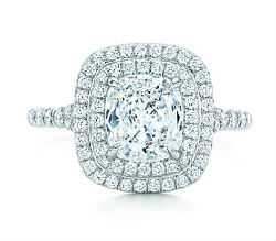 bague fiancailles en diamant coussin, tiffany