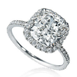bague diamant coussin, harry winston