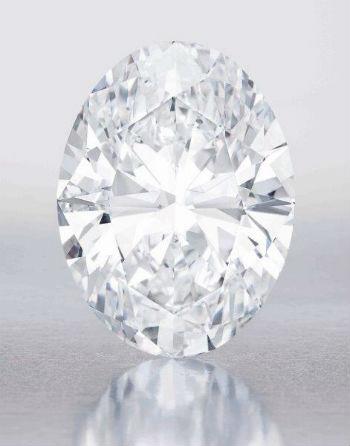 diamant blanc de 118,28 carats