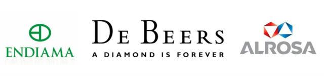 logo diamantaires, de beers, alrosa, endiama