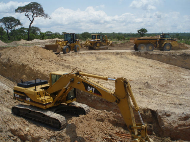 mines de diamants bruts, lulo en angola