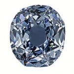 diamant de couleur bleu