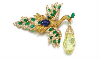 Walska Briolette Diamant Broche