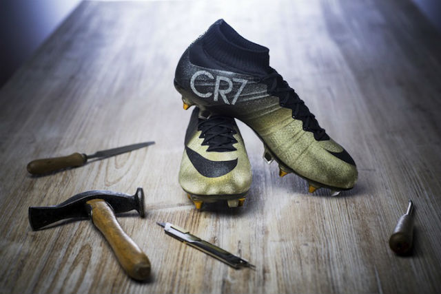 nike mercurial cr7 gold