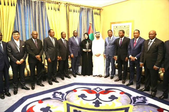 photo de groupe des emirats arabes unis et union africaine