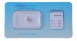 certificat d'authenticité diamant - hrd anvers